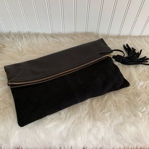 Asos faux leather/suede clutch